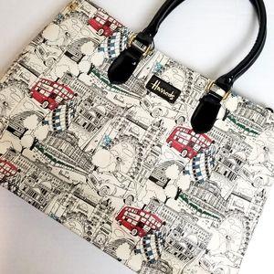 HARRODS - Monochrome London Shopper tote bag